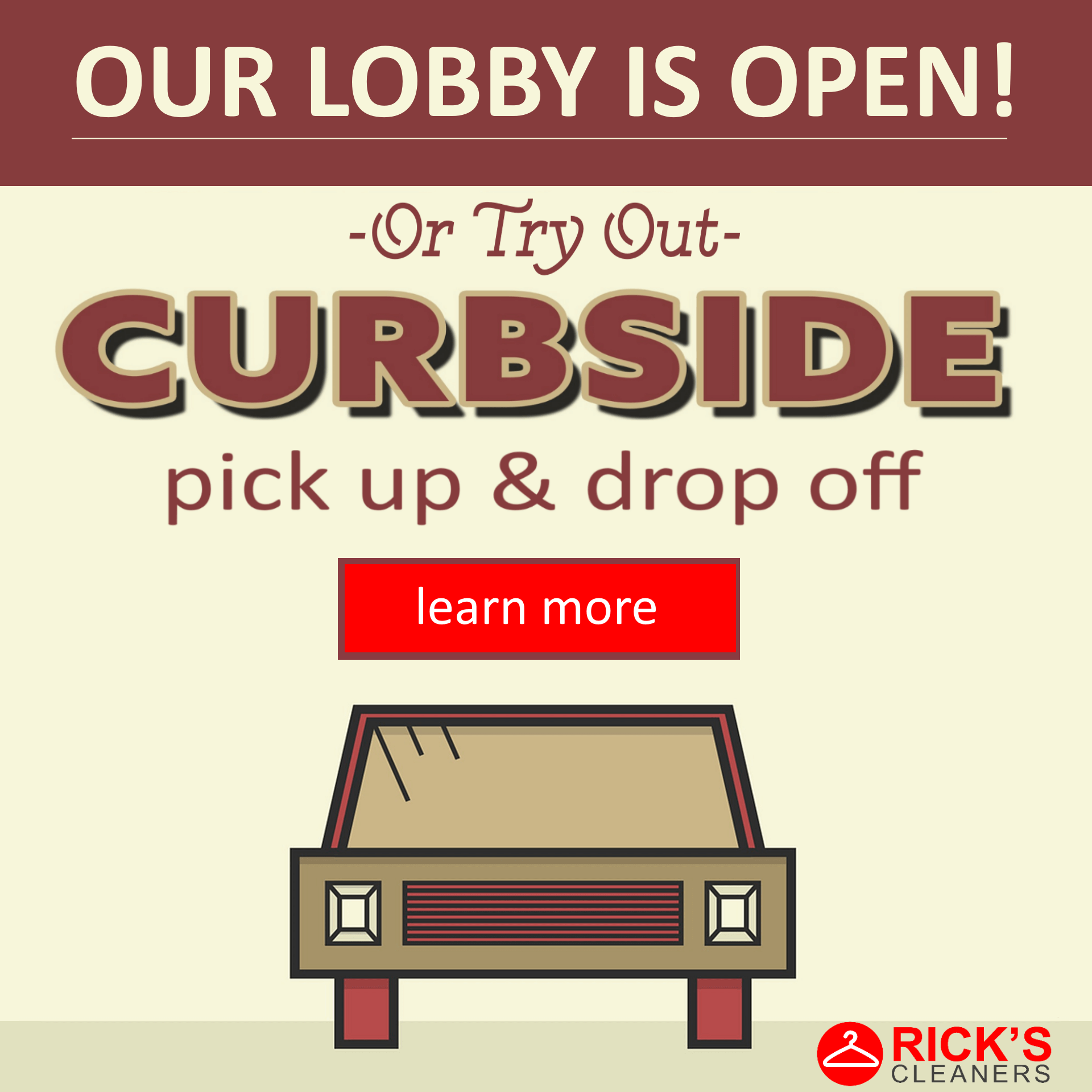 lobby open and curbside option